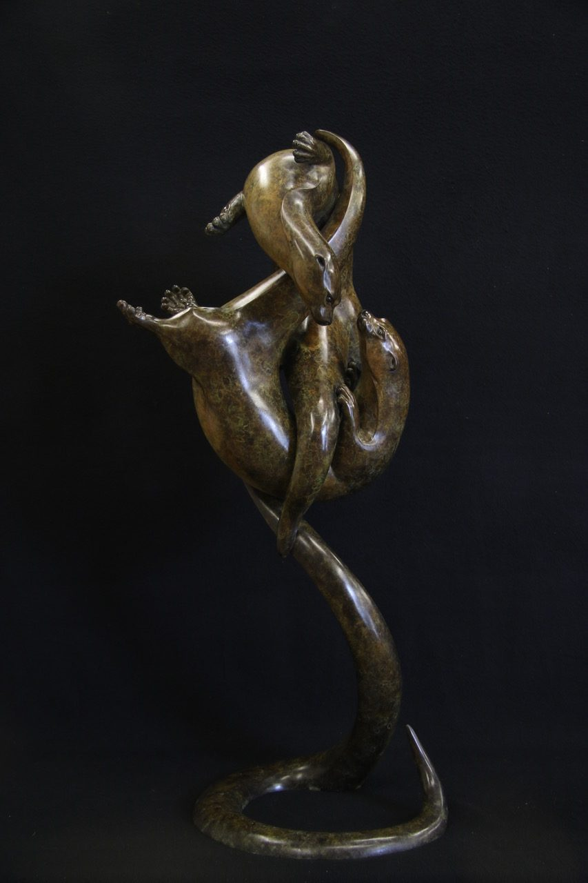 Bronze Otters