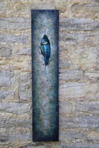 Bronze Blue Tit Plaque